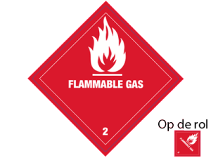 Flammable gas etiketten