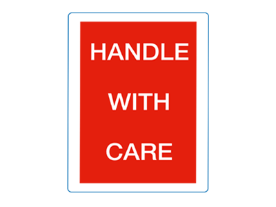 Handle with Care etiket